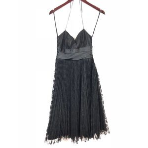 🔸Betsey Johnson NY Black Halter Cocktail Dress